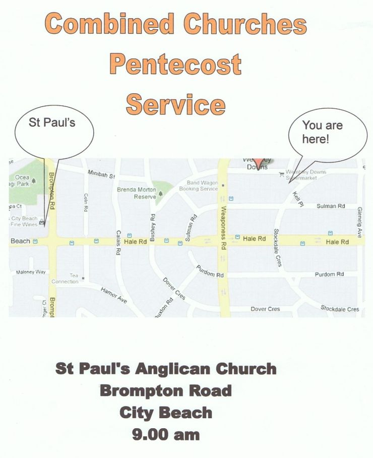 Combined churches celebrate Petnecost