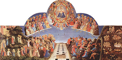 Jesus separating people at the Last Judgement, by Fra Angelico, 1432-1435.
