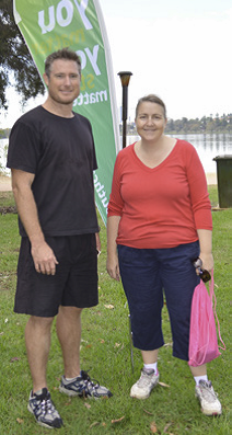 YouthCARE chaplains Andrew Winton and Susan Sydney-Smith at Churchlands Senior High School