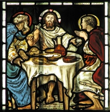 Jesus & disciples eating